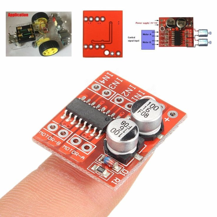 1.5A Mini Dual Channel DC Motor Driver Module L298N PWM Speed in Pakistan