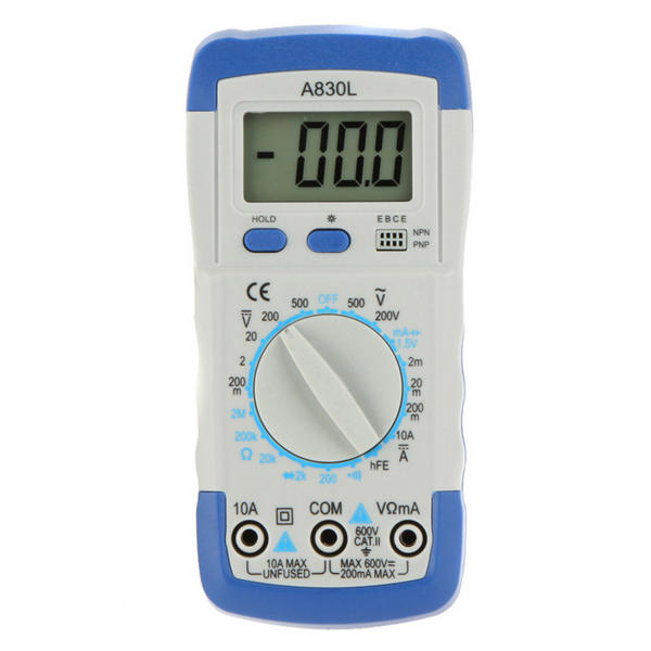 A830L Digital Multimeter Avometer Volt Ohm Amp Tester With LCD Display | Pakistan