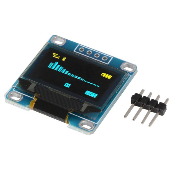 0.96 Inch 4Pin Blue IIC I2C OLED Display Module 12864 | Pakistan