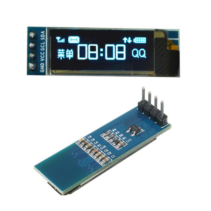 0.91 INCH OLED DISPLAY WHITE 12832 IIC 128*32 LCD SCREEN FOR ARDUINO DISPLAY DEVICE SSD1306