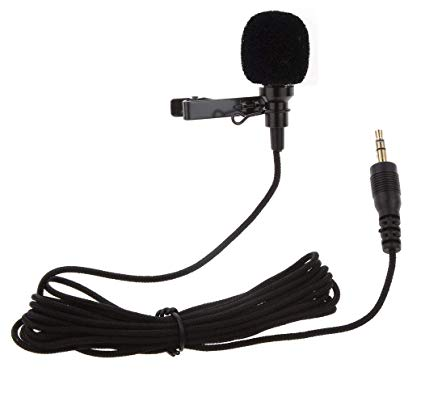 Clip-on Collar Mic Microphone – 3.5mm For DSLR Other Equipment Youtube – Black | Pakistan