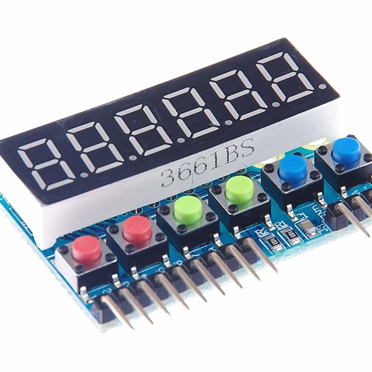 6-Digit 8 Segment Tube LED Display Module TM1637 for Arduino Raspberry PI | Pakistan