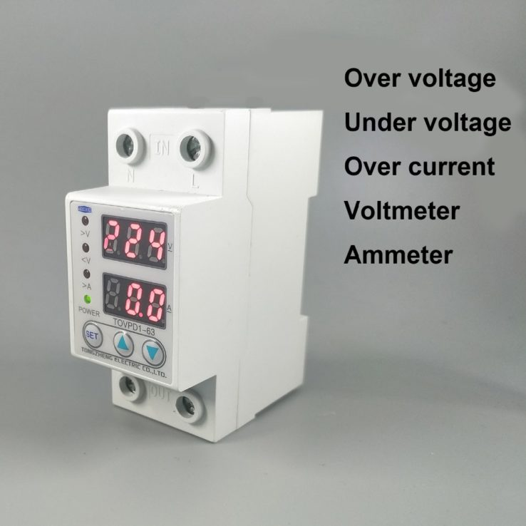 Adjustable Over And Under Voltage Relay Protective Device With Voltmeter Protection | Pakistan