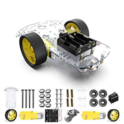 2WD SMART ROBOT CAR CHASSIS KIT 2 WHEEL | Pakistan
