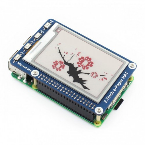 264×176 Resolution 2.7 Inch e-Paper Display HAT E-Ink Screen LCD Module SPI Interface with Embedded Controller for Raspberry Pi 2B 3B Zero Zero W/Arduino/STM32 | Pakistan