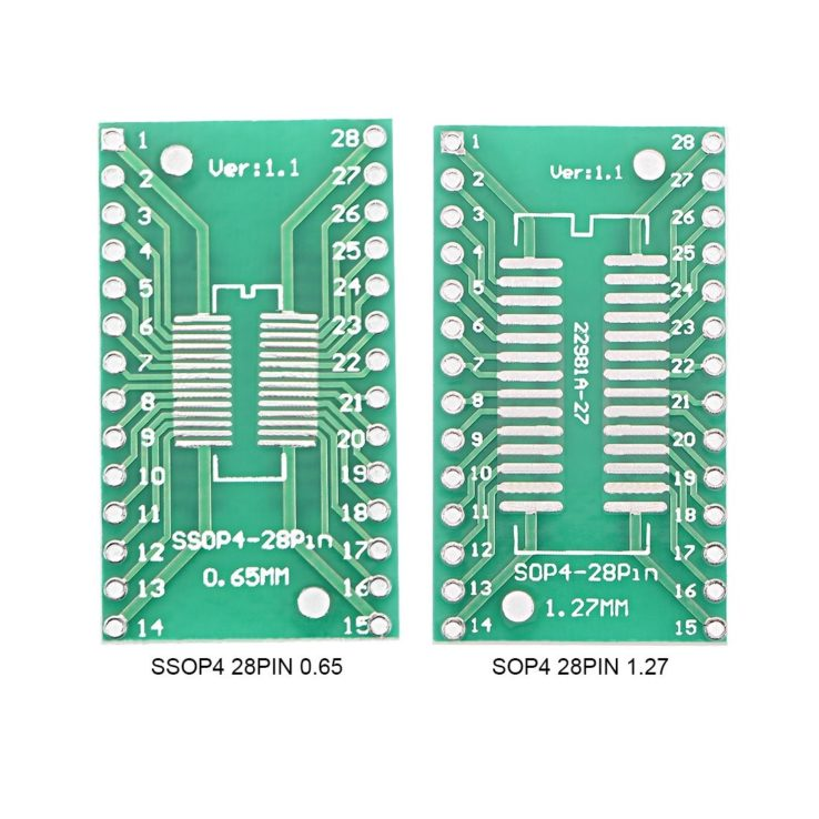 SOP SSOP 4 SMD Adapter Board 1.2mm/0.65mm 28 Pins Pitch IC Socket Adapter Plate PCB For Arduino | Pakistan