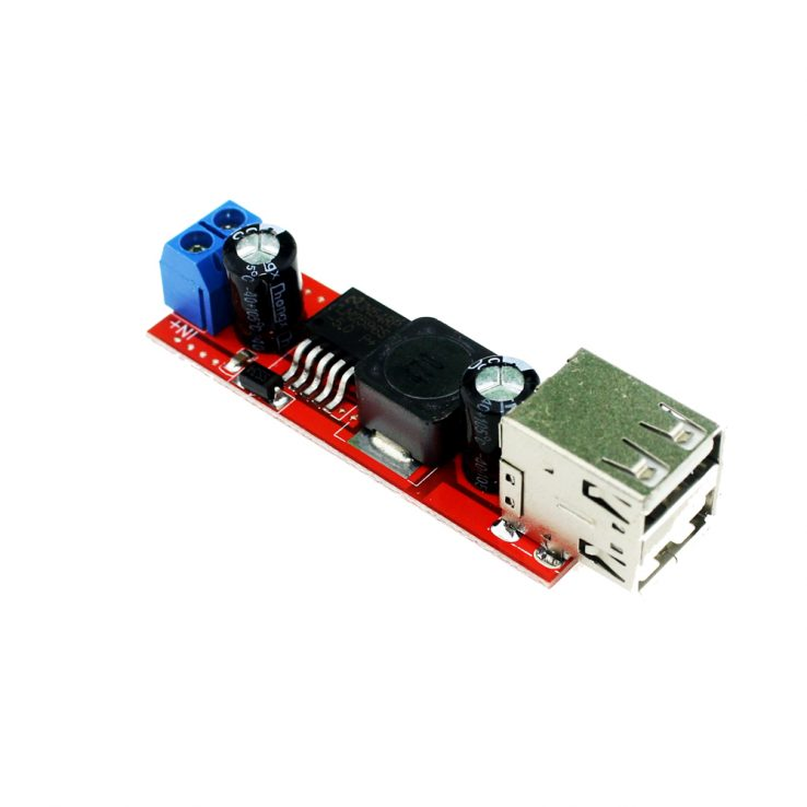 Vehical Battery Charger Dual USB Output LM2596 Buck Converter