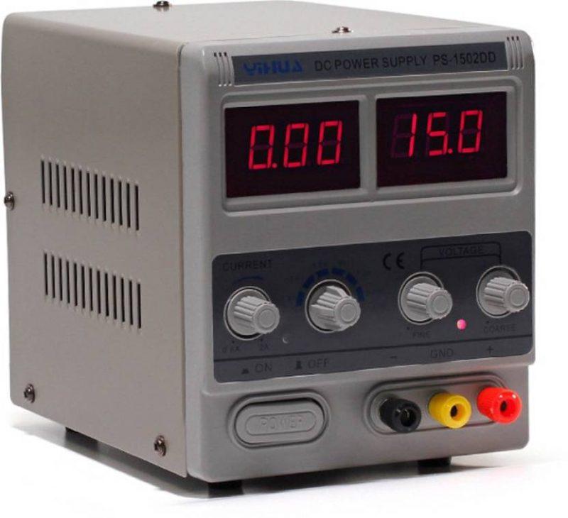 YIHUA 1502DD Adjustable Variable Output DC Power Supply LED Display 15V 2A