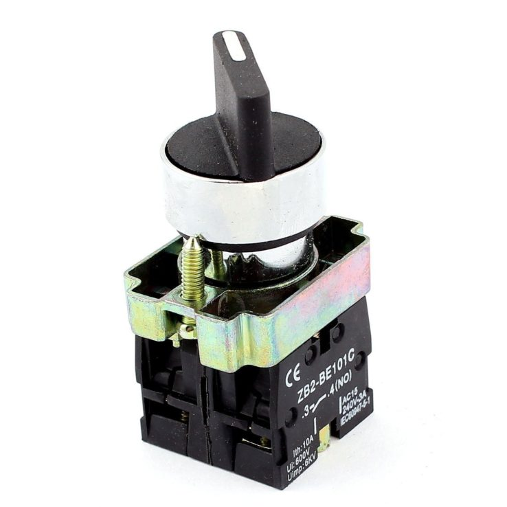 22mm 3-Position Rotary Selector Select Switch ZB2-BE101C | In Pakistan