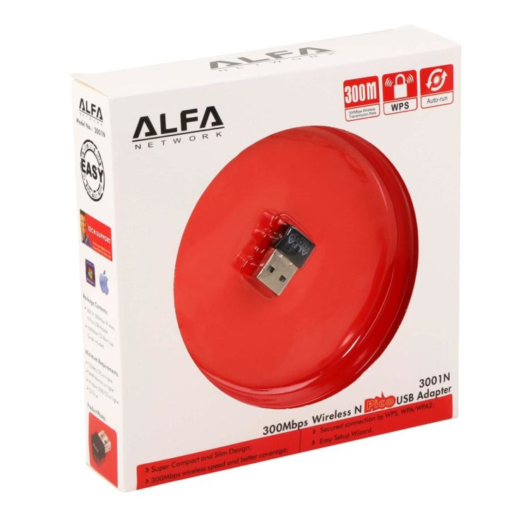 Alfa Network 300Mbps Wireless Adapter Black | In Pakistan