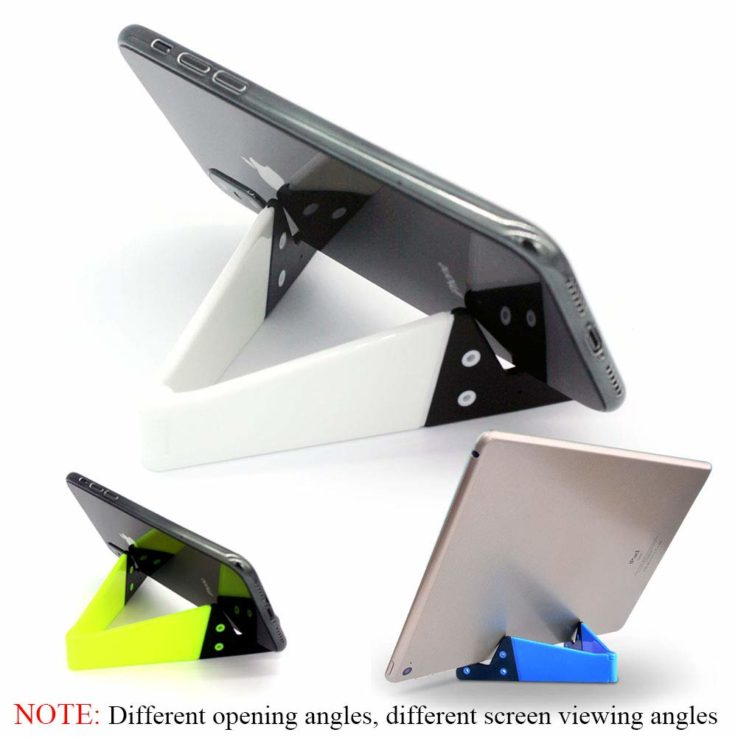 V Shaped Fold able Universal Mobile Phone Tablet PC Stand Holder Pocket-Sized Kickstand for Desk | In Pakistan