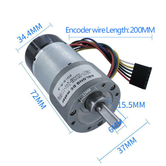 Generic ESCAP 16 Coreless DC 12V 540RPM Gear Motor With Encoder 16MM