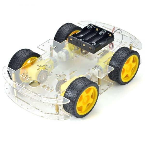 4WD Robot Smart Car Chassis Kits with Speed Encoder in Pakistan