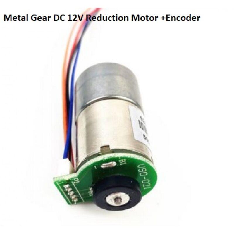 Metal Gear DC 12V Reduction Motor with Encoder hallroad