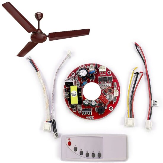 Universal Solar AC/DC 12V Ceiling Fan Circuit Remote Smart Speed Control kit in Hallroad Lahore