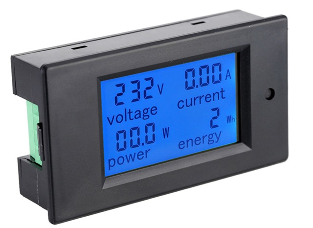 Voltage Current Power Energy meter AC 80-260V 20A