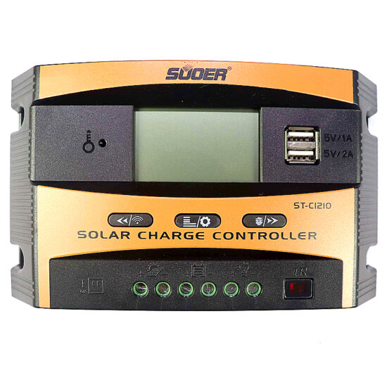 Suoer Smart Wireless Digital PWM Solar Controller 12V/24V DC 10A ST-C1210 in Pakistan